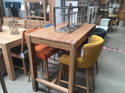 Kilburn Oiled Oak Bar Table