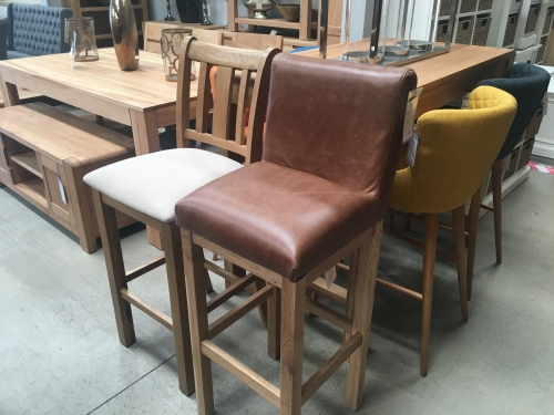 Repton Leather Bar Stools