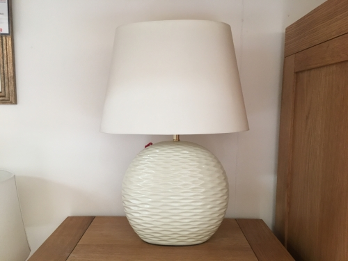 Cream Ripple Lamp