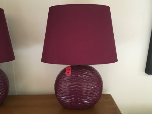 Purple Wave Lamp