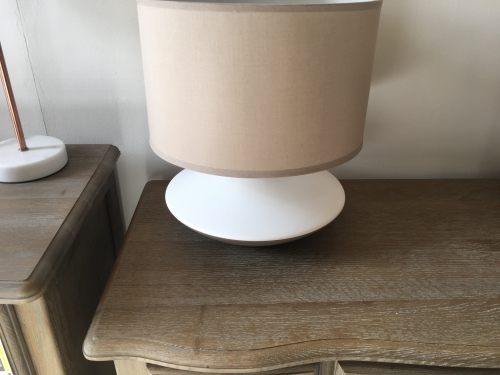 White & Beige Two Tone Lamp
