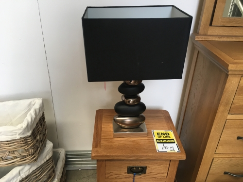 Black & Gold Pebble Lamp