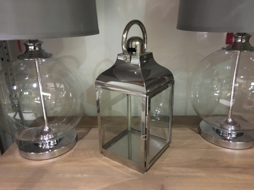 Silver Small Hurricane Lamp