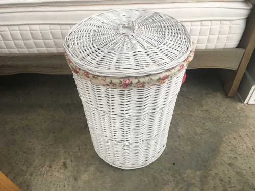 Large White Round Laundry Basket