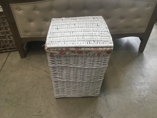 Large Square White Laundry Basket