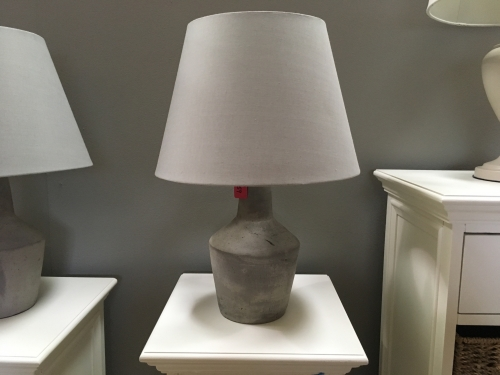 Stone Lamp With Grey Shade