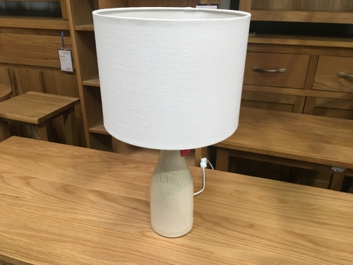 Cream Milk Pint Lamp