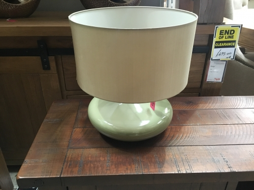 Olive Lamp With Olive Shade
