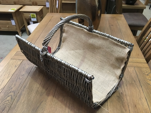 Small Half Pipe Log Basket