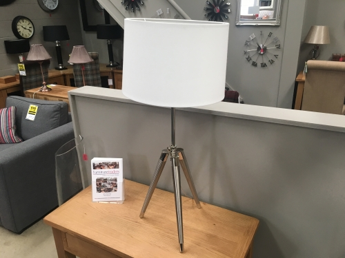 Unique Table Lamp With Cream Shade