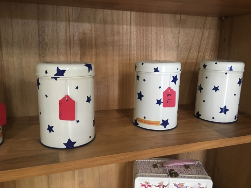 Emma Bridgewater Utensil Tin Blue Stars