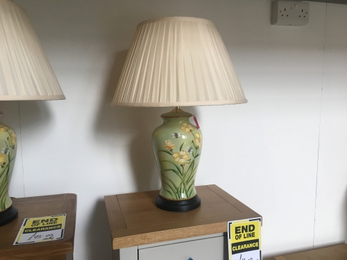Green Floral Lamp