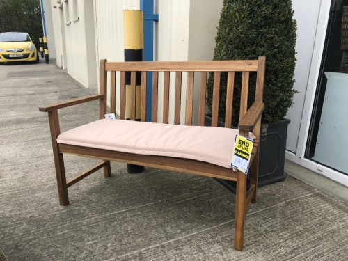 Cotswold Teak 120cm Bench with Cushion