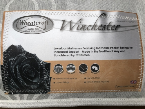 Winchester 3ft 1500 Pocket Sprung Mattress