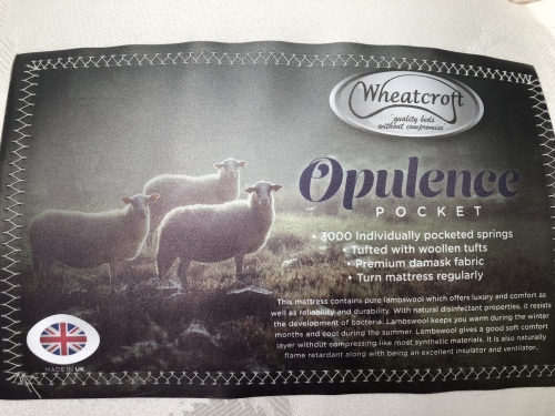 Opulance 3ft 3000 Pocket Sprung Mattress with Lambs Wool