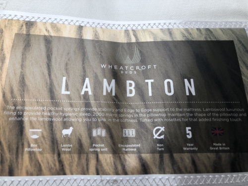 Lambton 3ft 2000 Pocket + 2000 Mini Pocket Lambswool Filling