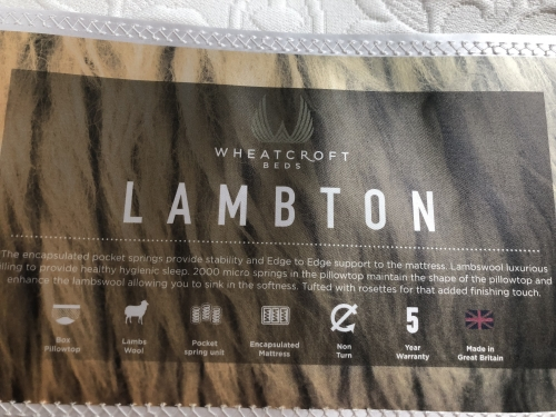 Lambton 6ft 1000 Pocket + 2000 Mini Pocket Lambswool Filling