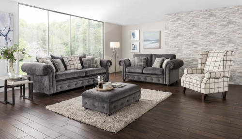 Kensington Fabric 2 Seat Sofa