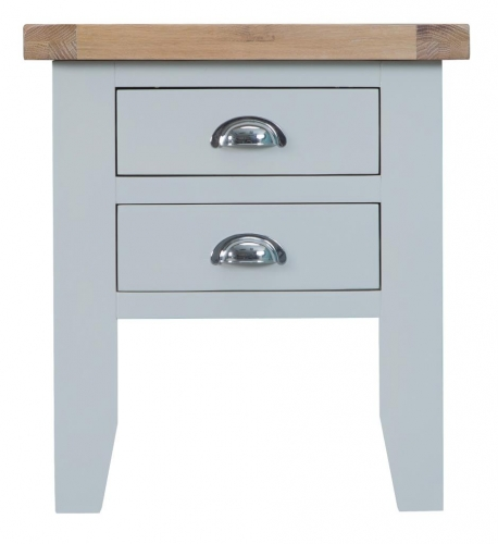 Thornton Painted Oak Grey Lamp Table