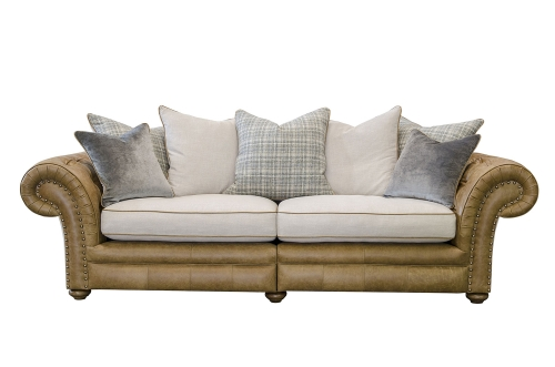 Marlow Midi Split Sofa Leather & Fabric