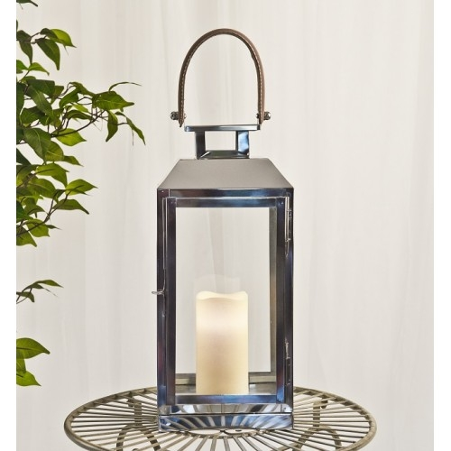 Lantern with Leather Handle
