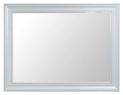 Thornton Painted Grey with Oak Top Large Wall Mirror