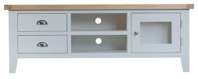 Thornton Painted Oak White Large TV Unit