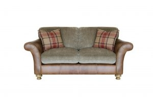 Conrad Leather & Fabric Sofa - Small