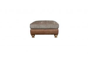 Conrad Leather & Fabric Footstool