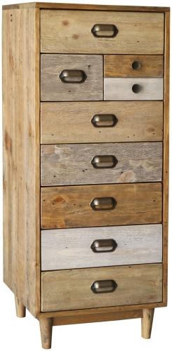 Derwent Reclaimed Pine Tall Narrow Chest