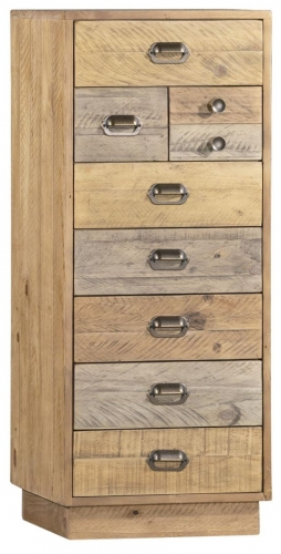 Derwent Reclaimed Pine Tall Narrow Chest with Plinth