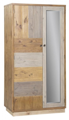 Derwent Reclaimed Pine Double Wardrobe with Plinth