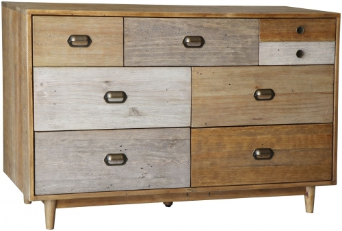 Derwent Reclaimed Pine 7 Drawer Wide Chest
