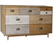 Derwent Reclaimed Pine 6 Drawer Wide Chest