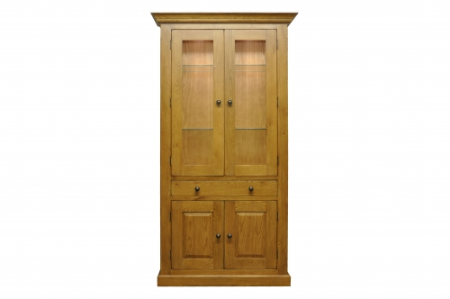 Priory Oak Display Cabinet