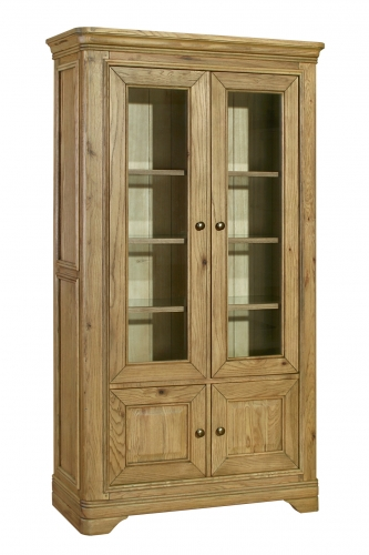 Rochelle French Oak Glazed Bookcase