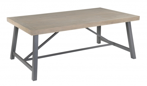 Lockton Industrial Timber 200cm Fixed Top Dining Table