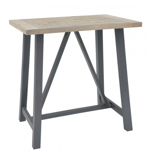 Lockton Industrial Timber Bar Table
