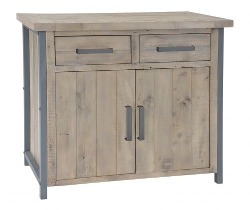 Lockton Industrial Timber 2 Door 2 Drawer Small Sideboard
