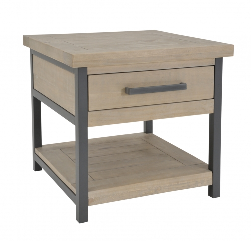 Lockton Industrial Timber Side Table
