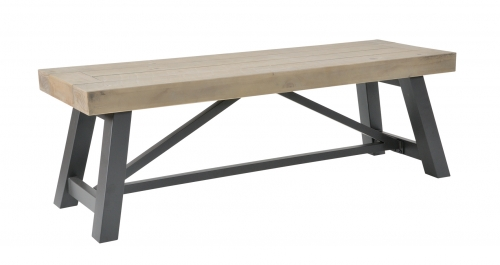 Lockton Industrial Timber Small Bench