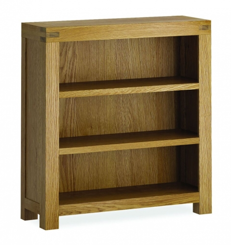 Sutton Rustic Waxed Oak Low Bookcase
