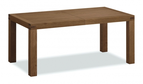 Sutton Rustic Waxed Oak Large Extending Dining Table
