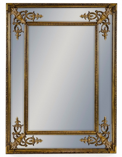 Gold Small French Mirror