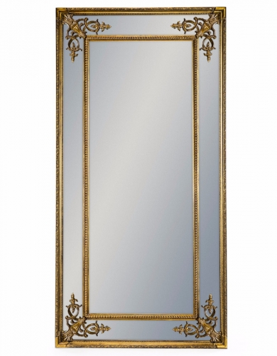 Tall Gold French Mirror without Crest
