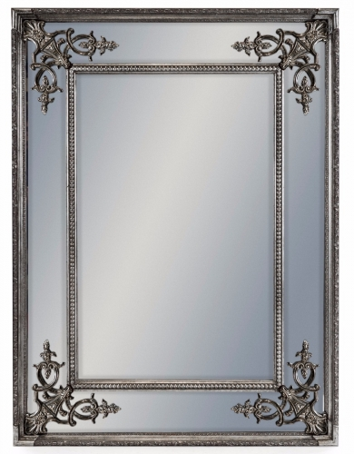 Silver Small French Mirror