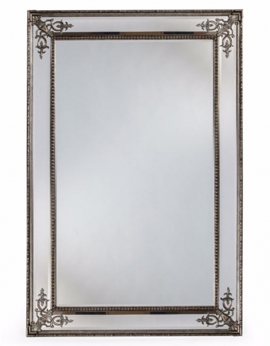 Large Silver French Framed Mirror