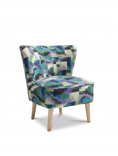 Paris Accent Chair - Kaleido Petrol