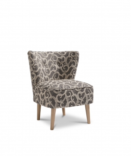 Paris Accent Chair - Plume Charcoal