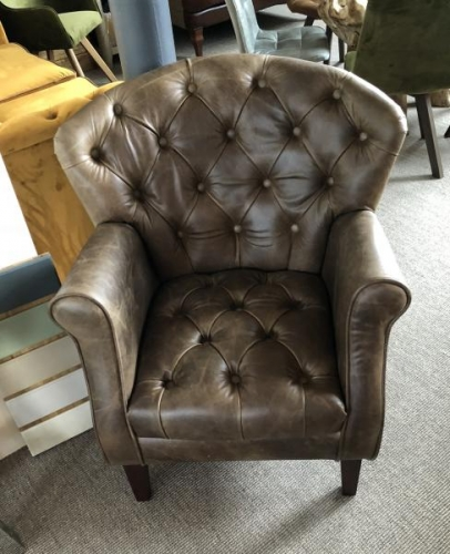 Jura Leather Wing Back Chair Chair